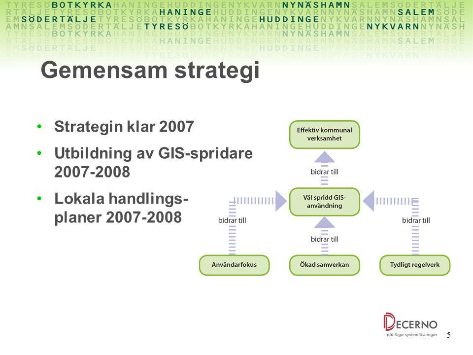 Gemensam strategi Strategin klar 2007