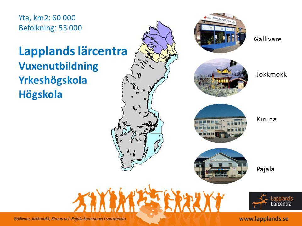 Lapplands lärcentra Vuxenutbildning Yrkeshögskola Högskola