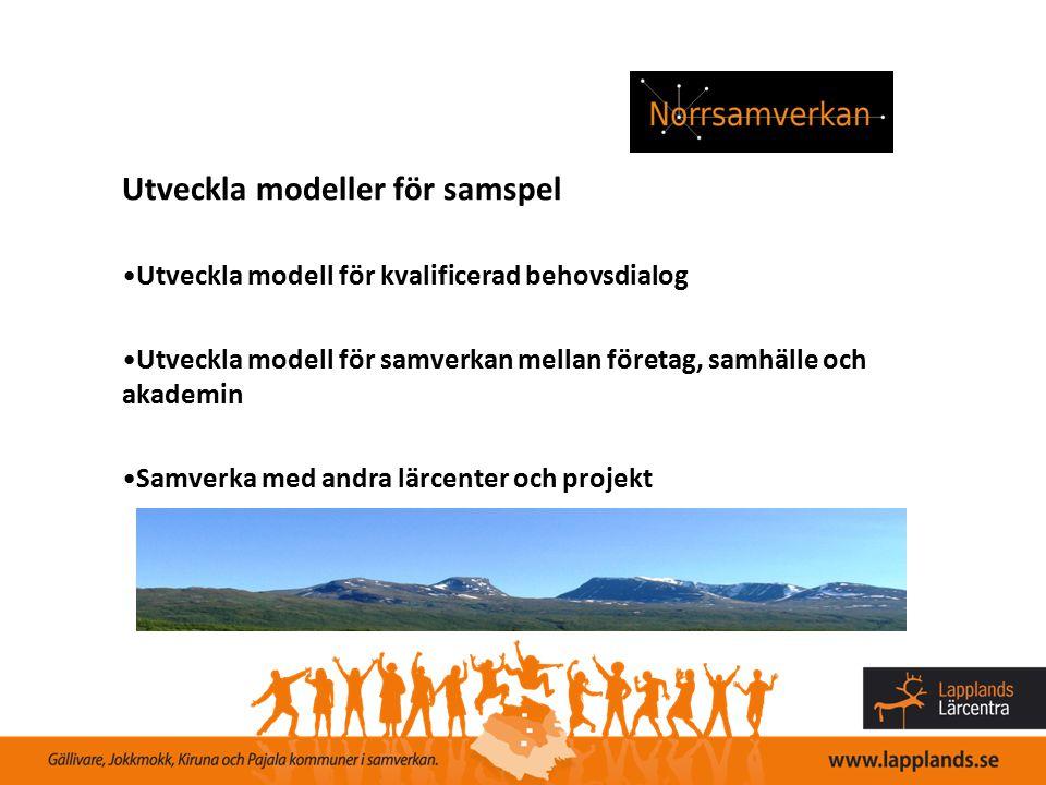 Utveckla modeller för samspel