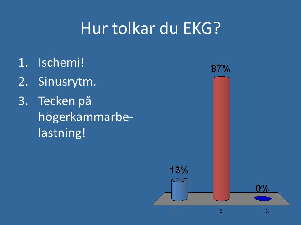 Hur tolkar du EKG Ischemi! Sinusrytm.