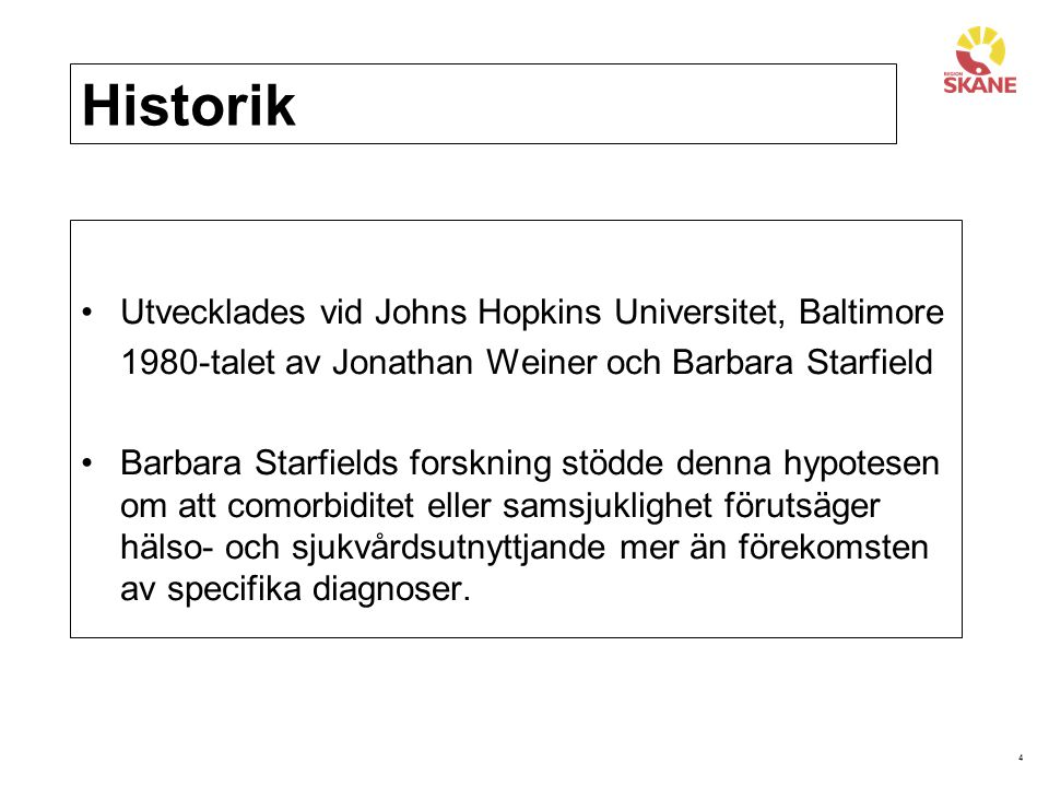 Historik Utvecklades vid Johns Hopkins Universitet, Baltimore