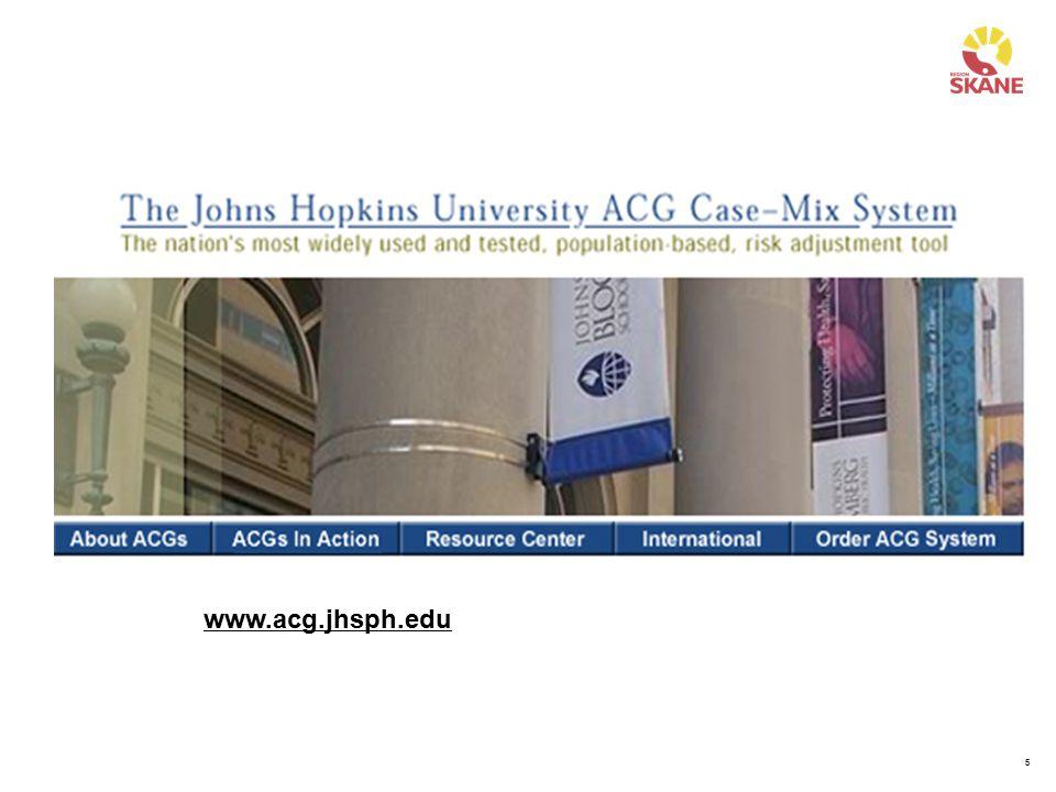Johns Hopkins University har en hemsida på nätet där all aktuell information om ACG och pågående forskning kan hittas. Här finns också bilder och presentationer från de senaste konferenserna avseende ACG. Detta är en bra in formationskälla för er som vill veta mer om ACG.