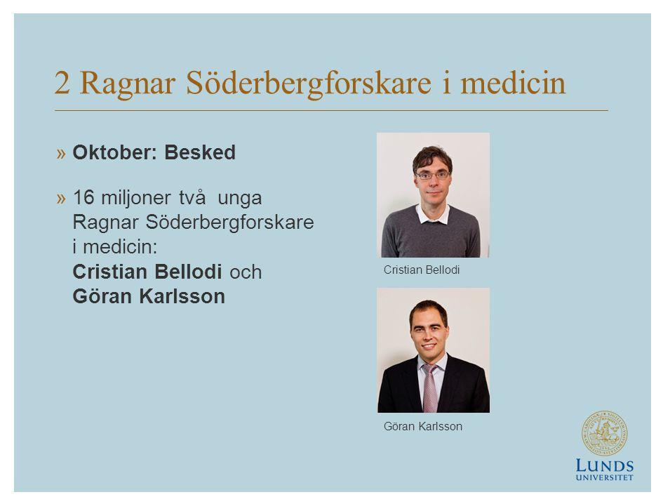 2 Ragnar Söderbergforskare i medicin