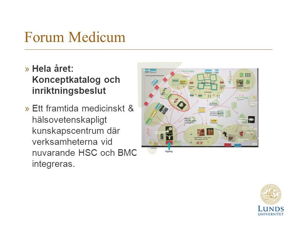 Forum Medicum Hela året: Konceptkatalog och inriktningsbeslut