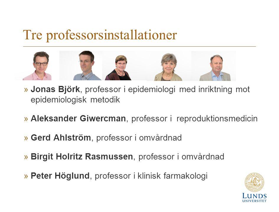 Tre professorsinstallationer