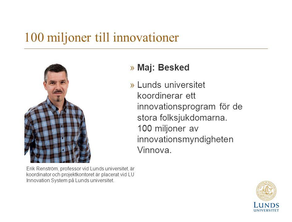 100 miljoner till innovationer