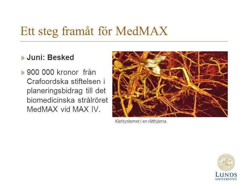 Ett steg framåt för MedMAX
