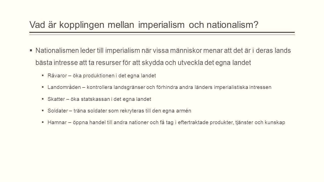 Vad är kopplingen mellan imperialism och nationalism