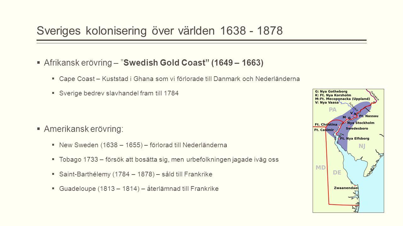 Sveriges kolonisering över världen 1638 - 1878