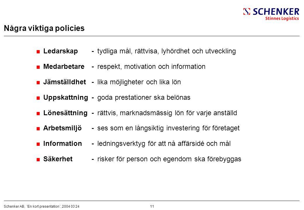 Några viktiga policies