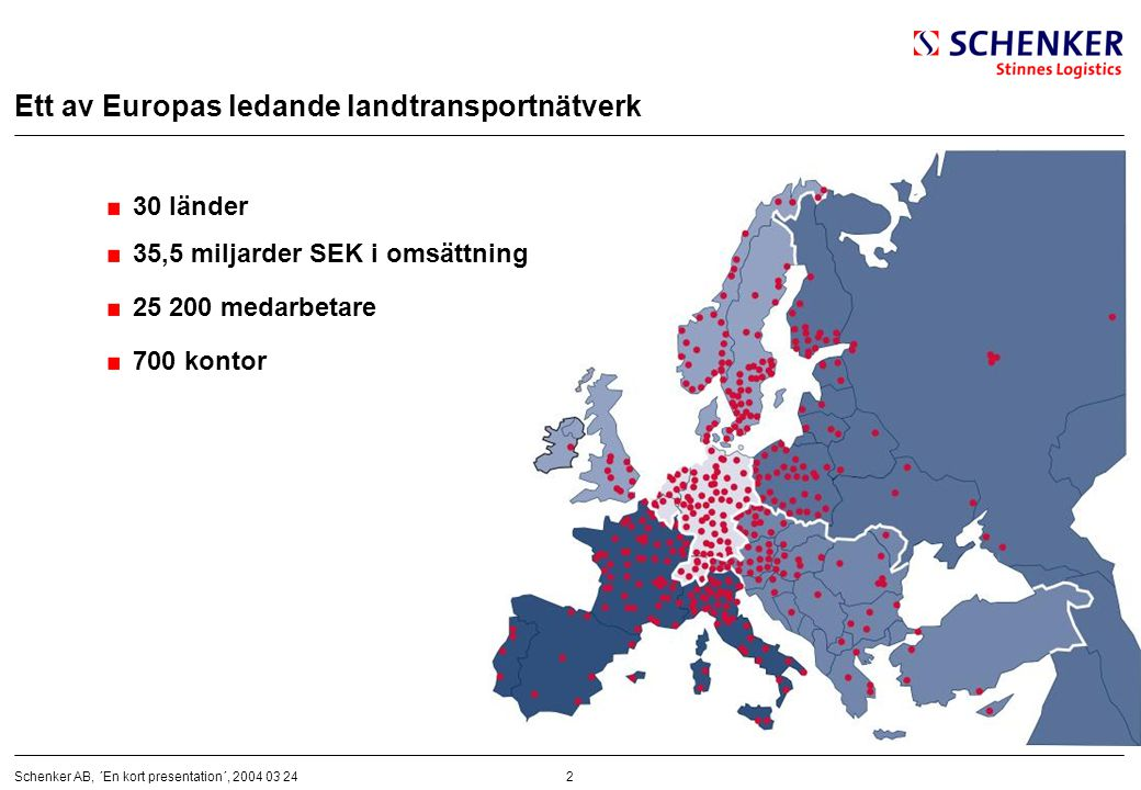 Ett av Europas ledande landtransportnätverk
