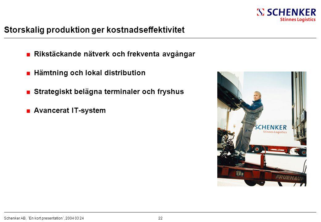 Storskalig produktion ger kostnadseffektivitet