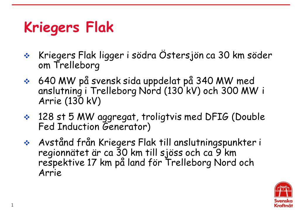 Kriegers Flak Kriegers Flak ligger i södra Östersjön ca 30 km söder om Trelleborg.
