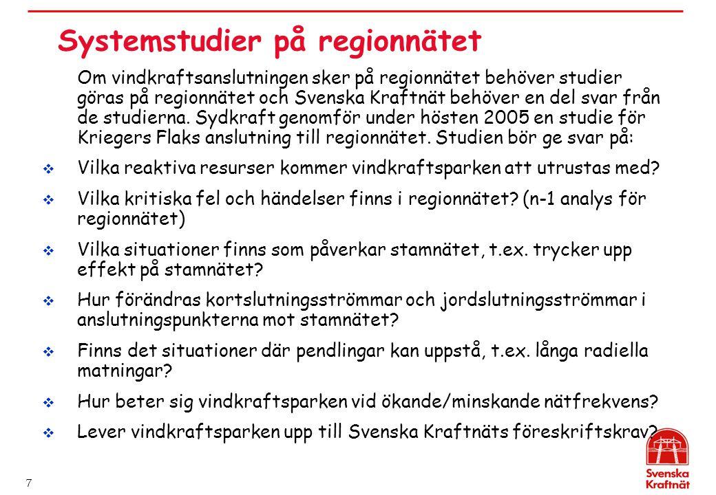 Systemstudier på regionnätet
