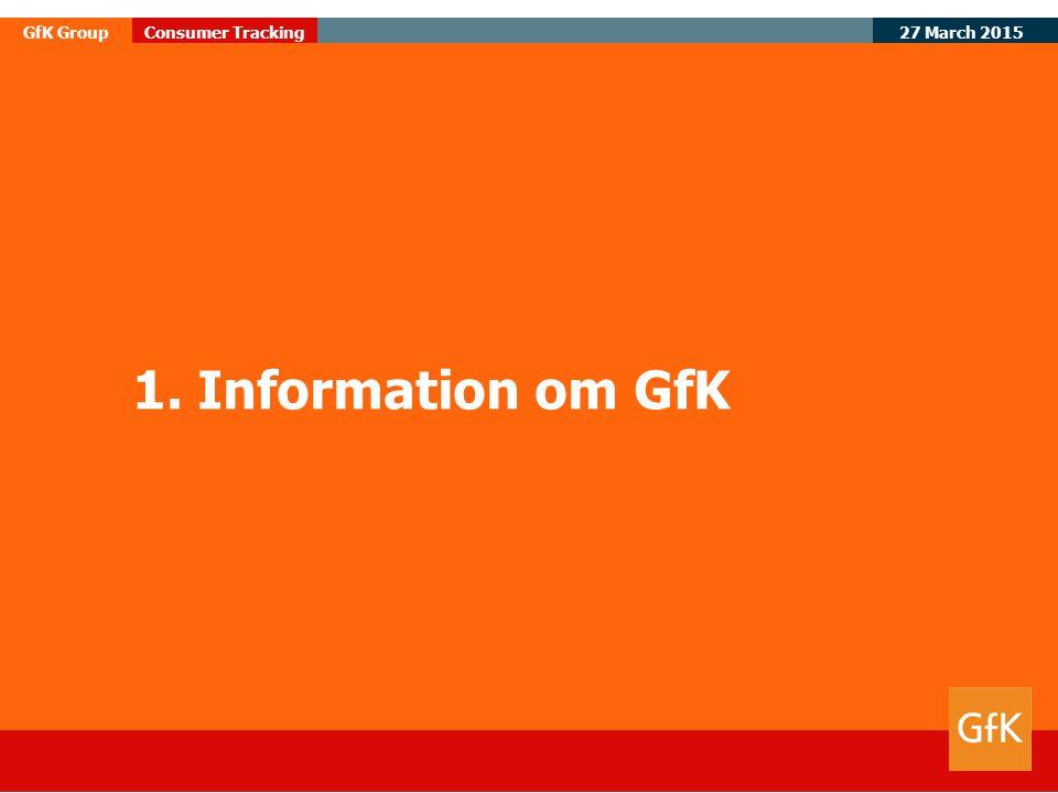 1. Information om GfK