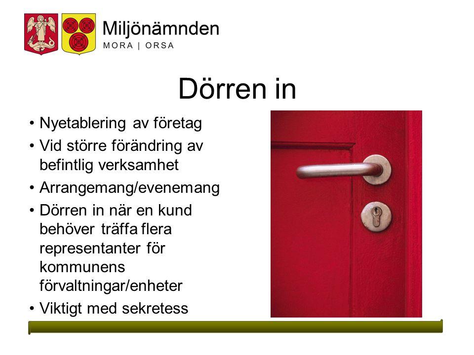 Dörren in Nyetablering av företag