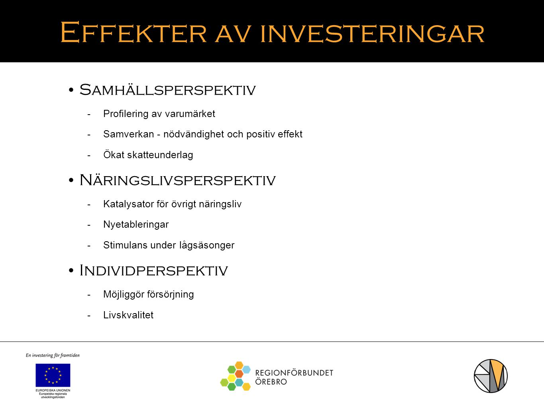 Effekter av investeringar