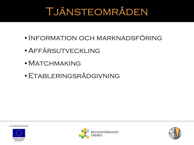 Tjänsteområden Information och marknadsföring Affärsutveckling