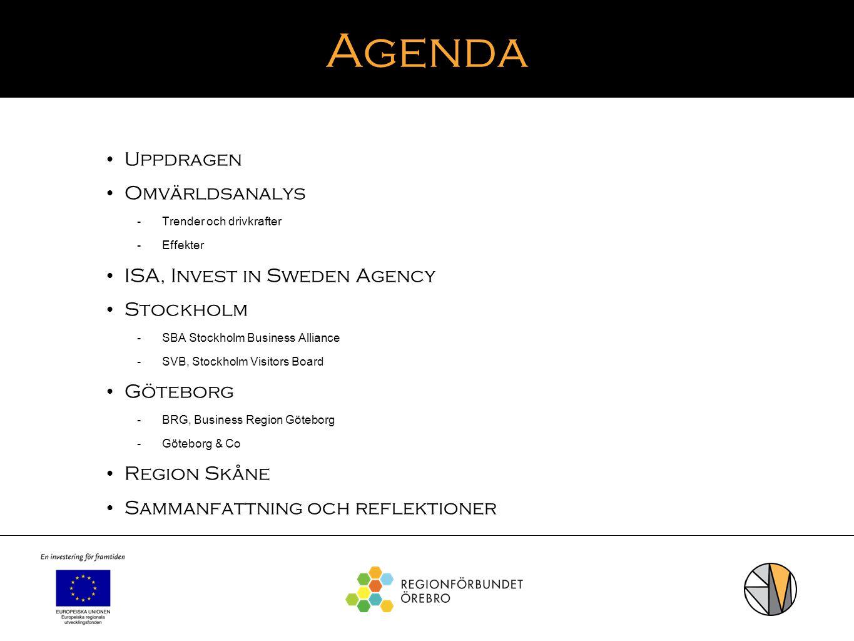 Agenda Uppdragen Omvärldsanalys ISA, Invest in Sweden Agency Stockholm