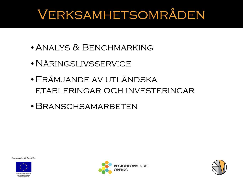 Verksamhetsområden Analys & Benchmarking Näringslivsservice