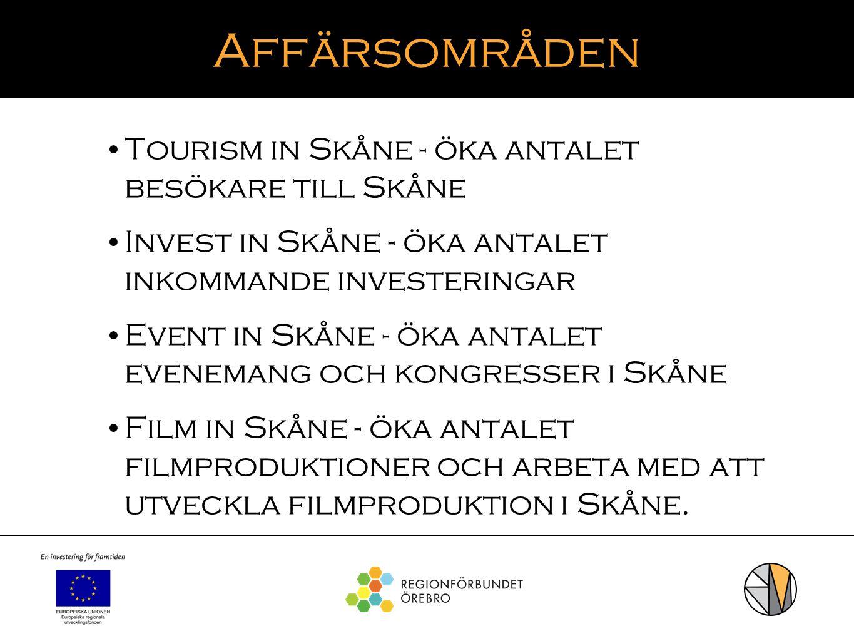 Affärsområden Tourism in Skåne - öka antalet besökare till Skåne