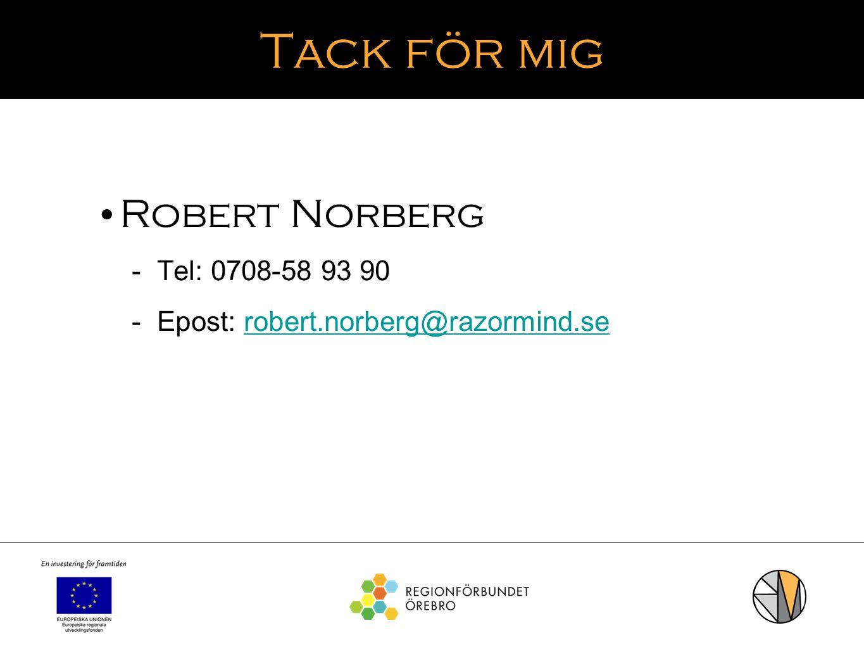 Tack för mig Robert Norberg Tel: 0708-58 93 90