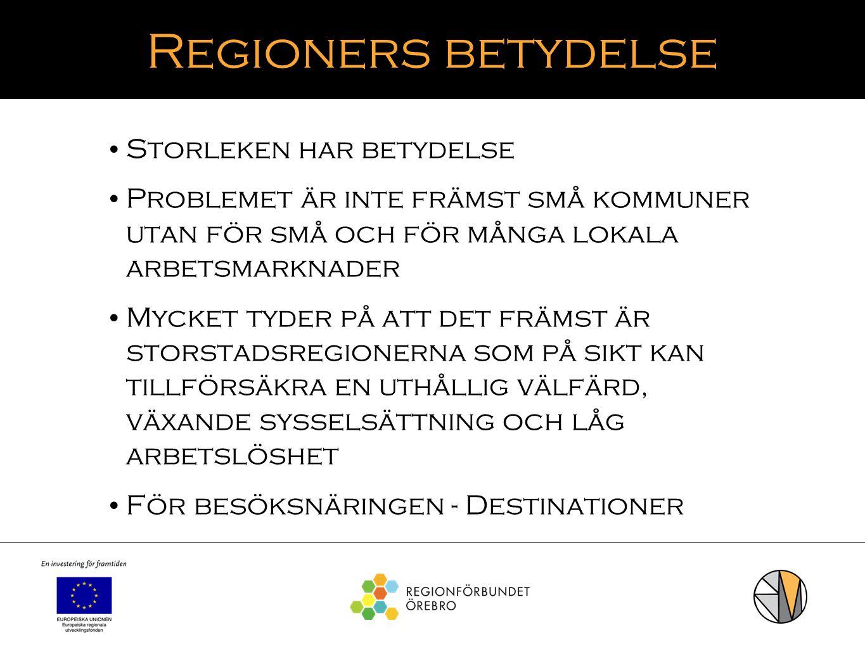 Regioners betydelse Storleken har betydelse
