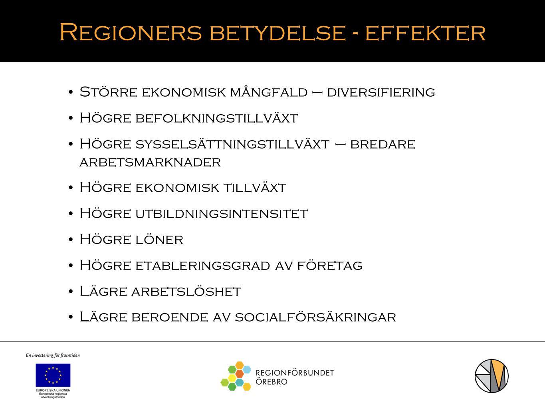 Regioners betydelse - effekter