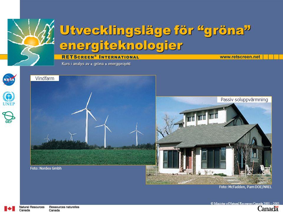 Kurs i analys av « gröna » energiprojekt