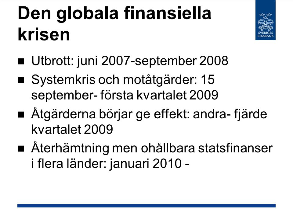 Den globala finansiella krisen