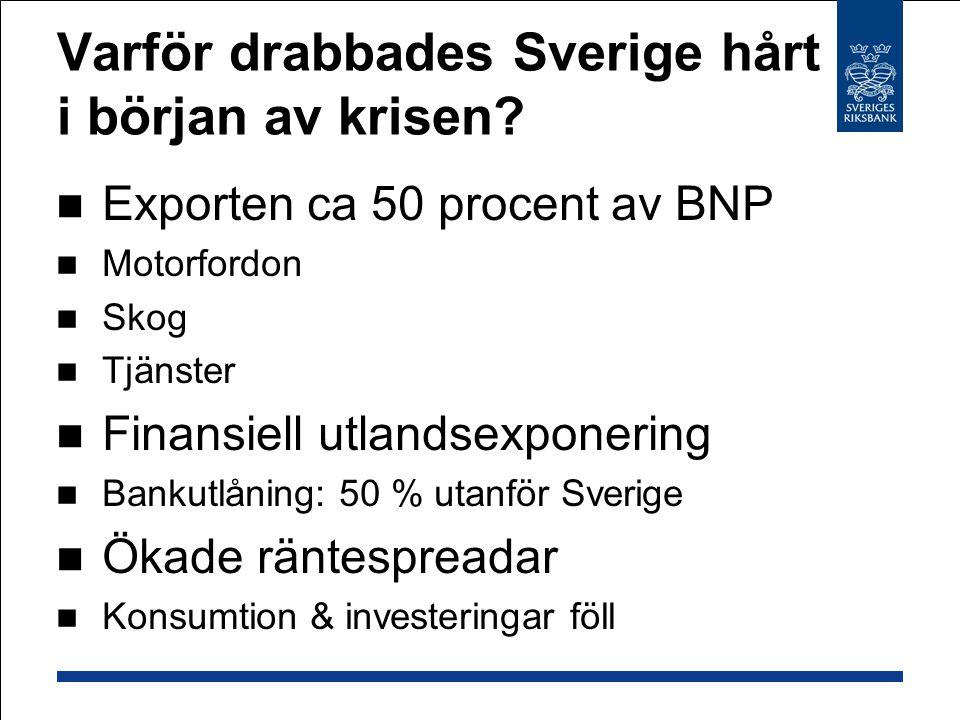 Varför drabbades Sverige hårt i början av krisen