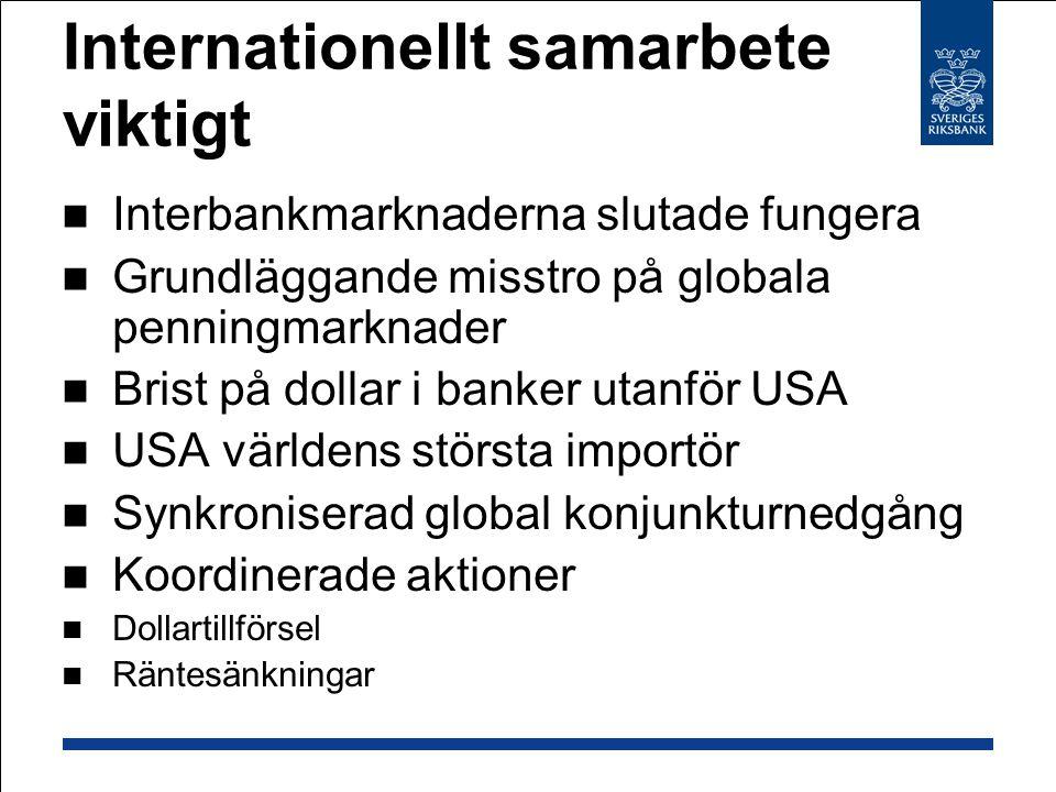 Internationellt samarbete viktigt