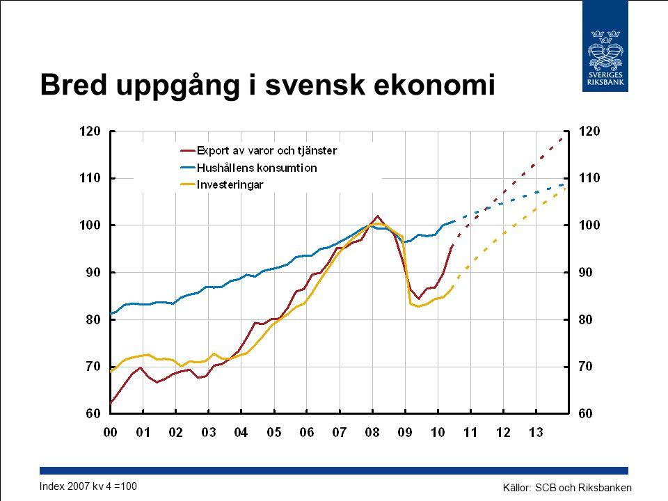 Bred uppgång i svensk ekonomi
