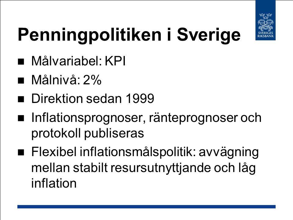 Penningpolitiken i Sverige