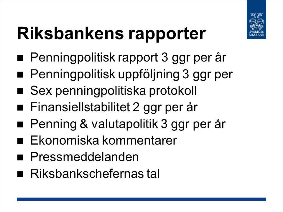 Riksbankens rapporter