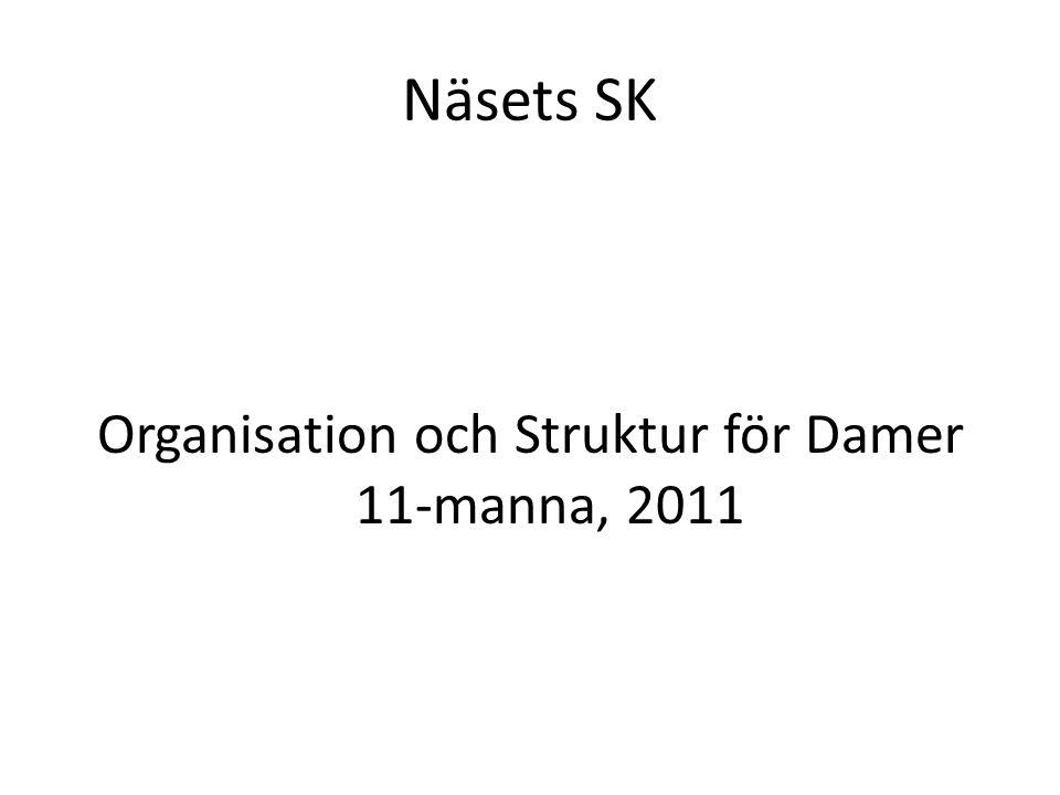 Organisation och Struktur för Damer 11-manna, 2011