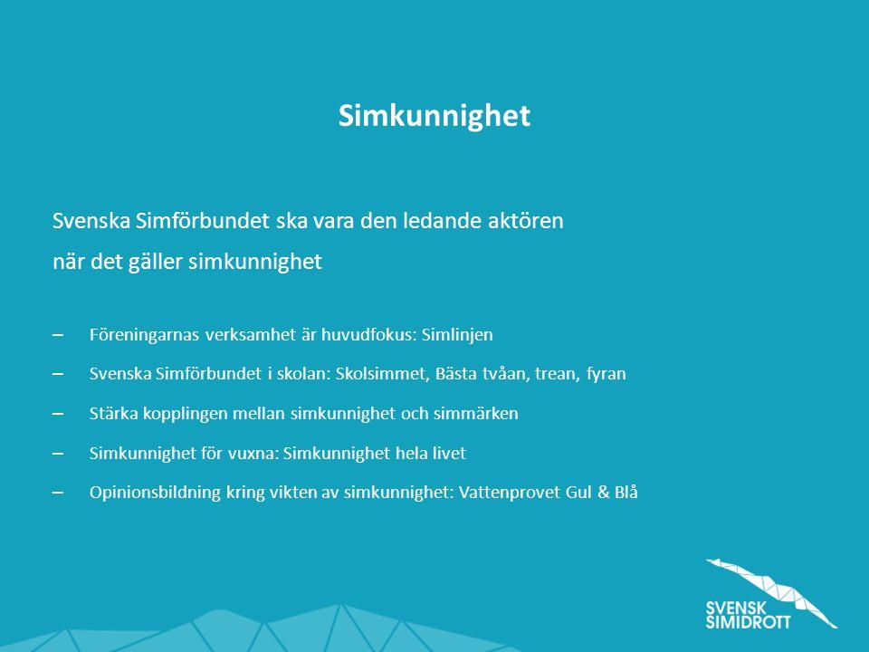 Simkunnighet Svenska Simförbundet ska vara den ledande aktören