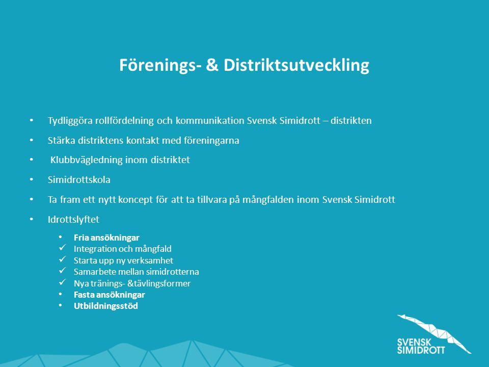 Förenings- & Distriktsutveckling