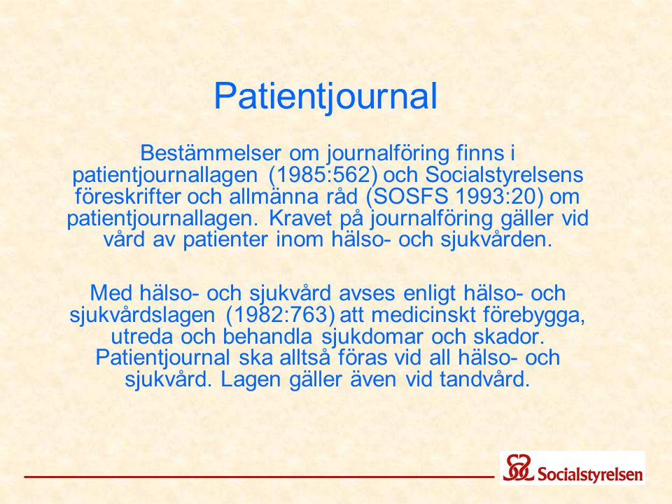 Patientjournal