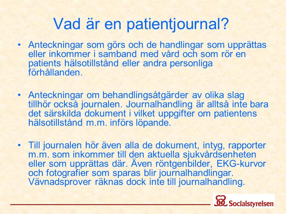 Vad är en patientjournal