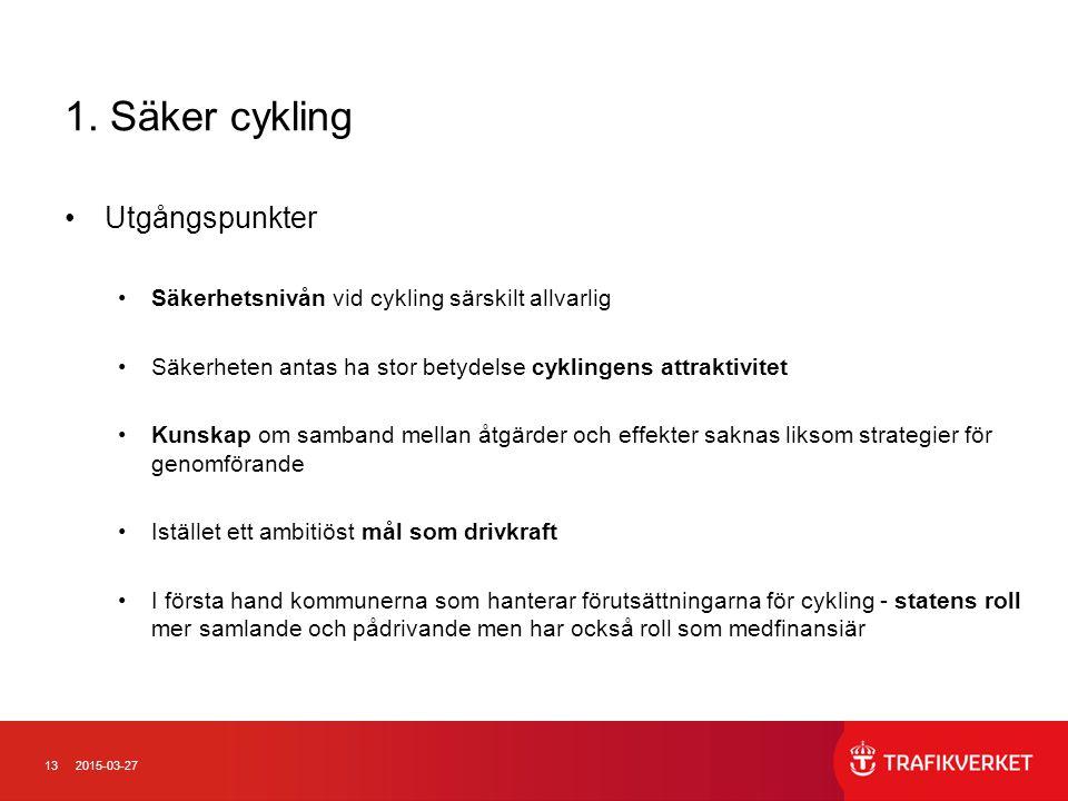1. Säker cykling Utgångspunkter