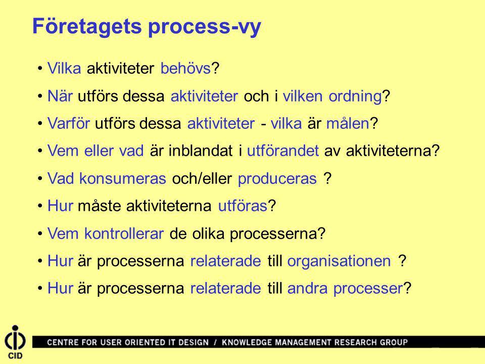Företagets process-vy