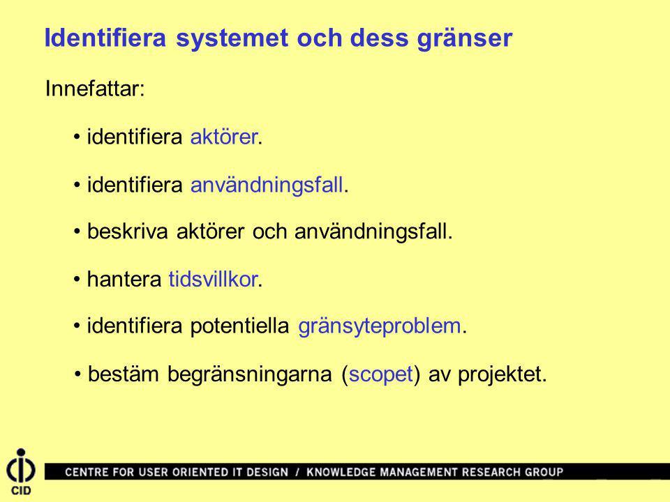 Identifiera systemet och dess gränser