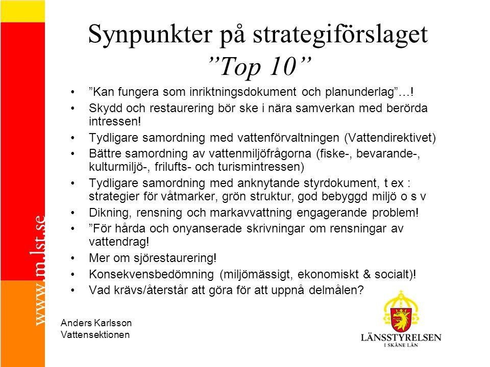 Synpunkter på strategiförslaget Top 10