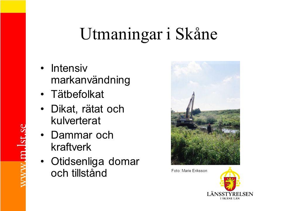 Utmaningar i Skåne Intensiv markanvändning Tätbefolkat