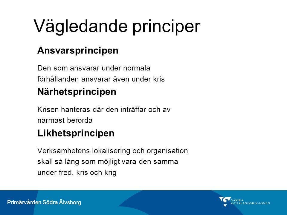 Vägledande principer Ansvarsprincipen Närhetsprincipen