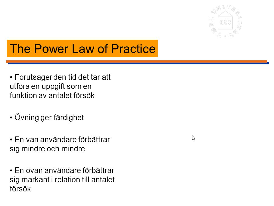 The Power Law of Practice