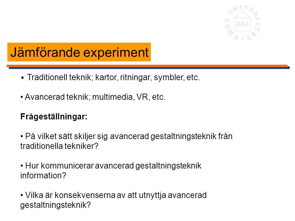 Jämförande experiment