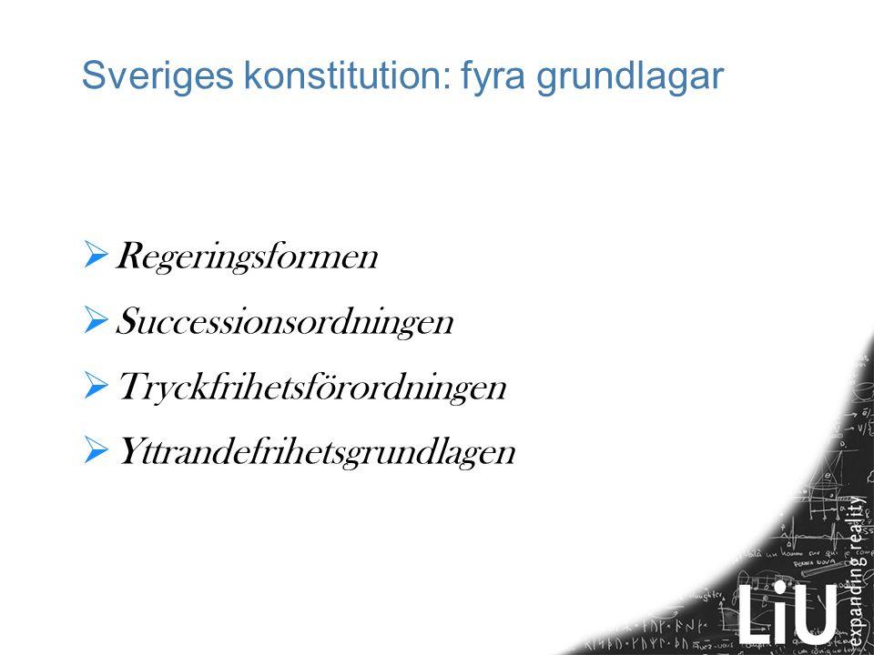 Sveriges konstitution: fyra grundlagar