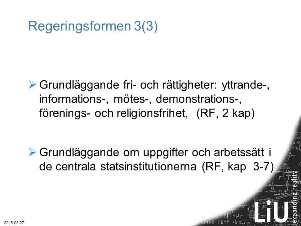 Regeringsformen 3(3)